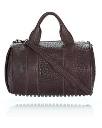 Alexander Wang Rocco in Iodine Pebble Lamb with Black Nickel - Lyst