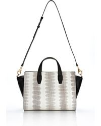 Alexander Wang Pelican Satchel in Ion Laminated Snake with Gold gold - Lyst