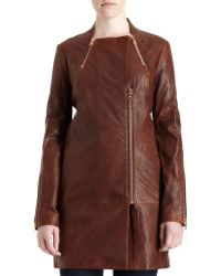 J Brand - Beta Leather Trench - Lyst