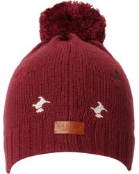 Radley - Cecile Embroidered Dog Beanie with Bobble - Lyst