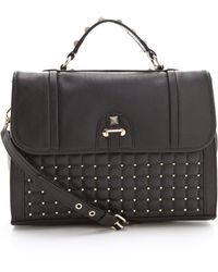 Rebecca Minkoff - Pyramid Studded Chance Briefcase - Lyst