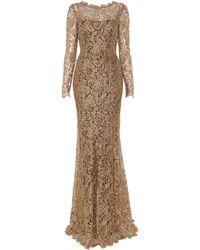 Temperley London Long Ariel Dress gold - Lyst