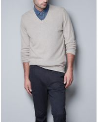 Zara Viscose Angora Sweater - Lyst