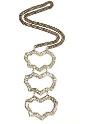 Anndra Neen - Threepart Melted Necklace - Lyst