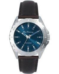 Ben Sherman Blue Dial Leather Strap Watch - Lyst