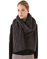 Cut25 by Yigal Azrouël - Chunky Cable Scarf - Lyst