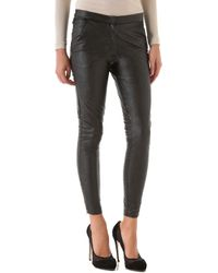 Heidi Merrick - Brummel Faux Leather Trousers - Lyst