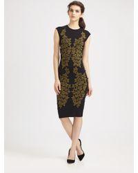 McQ by Alexander McQueen Leaf Jacquard Dress - Lyst