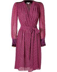 Sophie Theallet - Plum Blossom Cotton-silk Belted Wrap Dress - Purple - Lyst