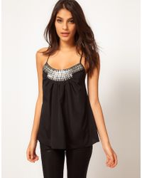 ASOS Collection Asos Cami with Embellished Front - Lyst