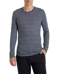 Burberry Brit - Striped Long Sleeve Tee - Lyst