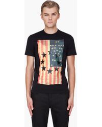 Givenchy  Embossed USA Flag T-Shirt - Lyst