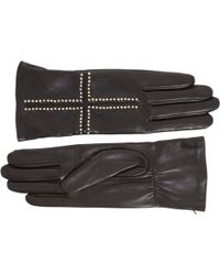 Givenchy Studded Cross Leather Gloves - Lyst