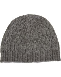 John Varvatos - Trellis Cable Knit Hat - Lyst