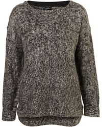 Topshop Knitted Brushed Mohair Jumper gray - Lyst