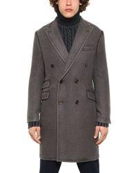 Boglioli Wool Silk Blend Coat - Lyst