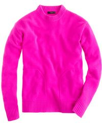 J.Crew Collection Cashmere Pocket Sweater - Lyst