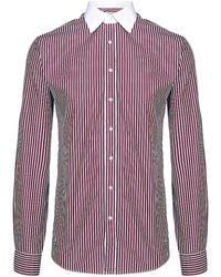 Thomas Pink - Contrast Collar Striped Shirt - Lyst