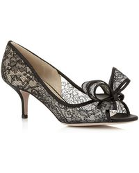 Valentino Couture Lace Peep Toe Pump - Lyst