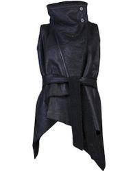 Ann Demeulemeester Audry Vest black - Lyst