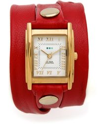 La Mer Collections Simple Wrap Watch red - Lyst