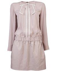 Victoria Beckham Studded Bow Dress - Lyst