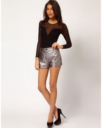 ASOS Collection Asos Shorts in Leather - Lyst
