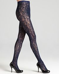 DKNY Tights All Over Lace Net 0b562 - Lyst