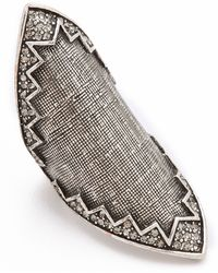 House of Harlow 1960 - Cross Hatched Pave Ring - Lyst