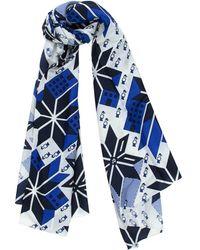 Julien David Snowflake Print Scarf blue - Lyst