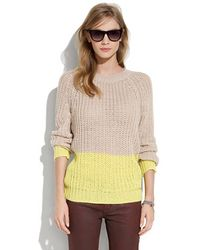 Madewell Colorblock Bookmark Sweater - Lyst