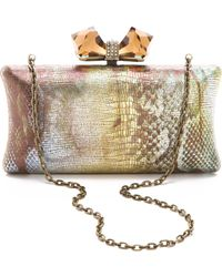 Overture Judith Leiber - Concave Side Rectangle Clutch - Lyst