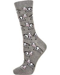 Topshop  Little Cow Ankle Socks - Lyst