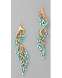 Alexis Bittar - Gold Turquoise River Earrings - Lyst
