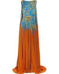 Matthew Williamson Printed Silk Gown - Lyst