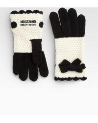 Moschino - Bow Crochet Gloves - Lyst