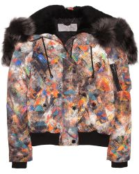 Mulberry Zany Zigzag Shearling Trimmed Printed Jacket - Lyst