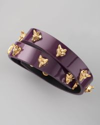 Tory Burch Fox Studded Wrap Bracelet - Lyst
