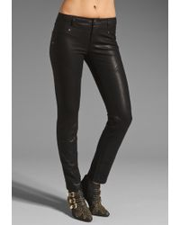 Free People Vegan Leather Seamed Skinny Pant - Lyst