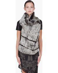 Helmut Lang Grey Rabbit Fur Vest - Lyst