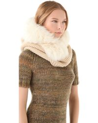 Rachel Zoe - Hooded Neck Warmer with Fox Fur - Lyst