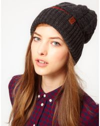 Fred Perry - Authentic Patchwork Cable Beanie - Lyst