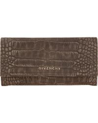 Givenchy Crocstamped Pandora Continental Wallet - Lyst