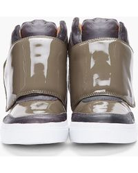 Jeffrey Campbell - Olive Patent Prism Sneakers - Lyst