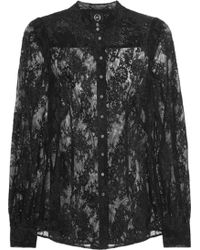 McQ by Alexander McQueen Lace Blouse black - Lyst