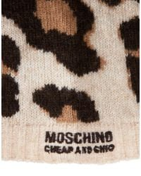 Boutique Moschino - Leopard Knitted Hat - Lyst