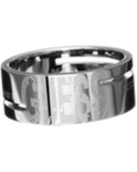 Guess | Steel Logo Ring | Lyst