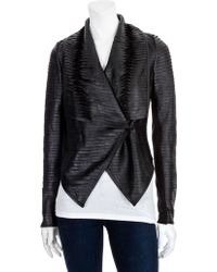 Scoop Rolled Strip Leather Jacket - Lyst