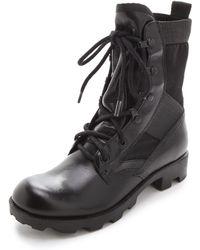 Theyskens' Theory - Yvanka Combat Boots - Lyst