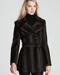 Via Spiga Scarpa Double Breasted Ombre Pleated Trench Coat - Lyst